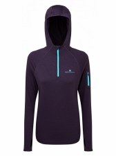 Ron Hill Momentum Workout Hoodie (Purple Aqua Mint) 8