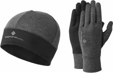 Ronhill Contour Beanie & Glove Set (Grey Marl) Small - Medium
