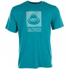 Saltrock Shockwave Flame Tee (Turquoise) Large