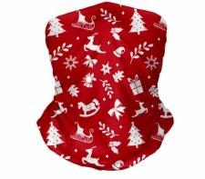 Santa Reindeer Snood (Red White)