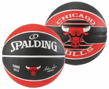 Spalding NBA Chicago Bulls (Black Red) Size 7