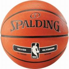 Spalding NBA Silver Series Outdoor Basketball (Orange) Size 6