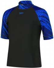Speedo Boom Boys Rash Vest (Black Blue) Age 8
