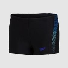 Speedo Placement Aquashort  Boys Plastisol (Black Blue) 9-10