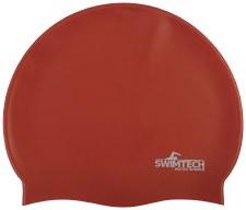 SwimTech Silicone Swim Cap Red