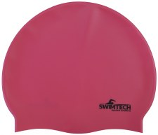 SwimTech Silicone Swim Cap Pink