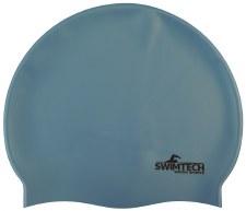 SwimTech Silicone Swim Cap Sky