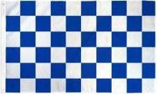 TCF 5X3 Checker Flag (Royal White)