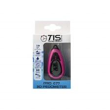 TIS Pro 077 3D Pedometer Pink