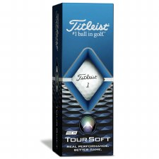 Titleist Tour Soft (White) 3 Pack