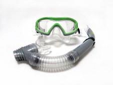 TWF Mask & Snorkle Set Kids (Green Silver Clear)