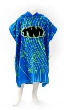 TWF Towel Poncho Kids (Royal Blue Lime Black) One Size