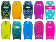 TWF XPE Slick Back Bodyboard (Blue Camo Fish) 37
