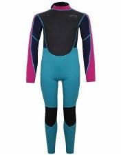 Typhoon Storm3 Wetsuit Junior (Black Aqua Pink) Large Girls