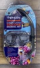 Typhoon Junior/Ladies Snorkle Set (Charcoal Grey)