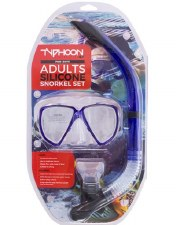 Typhoon Adults Snorkle Set (Blue)