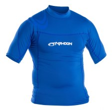 Typhoon Rash Vest Short Sleeve Junior (Aqua Blue) Medium Boys