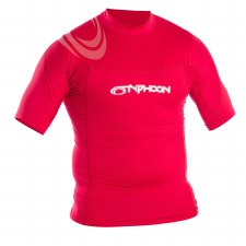 Typhoon Rash Vest Short Sleeve Junior (Red) Medium Boys