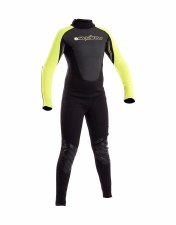 Typhoon Swarm 3mm Junior Wetsuit (Black Yellow) Small