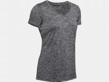 Under Armour Womens  Tech™ Twist V-Neck (Black Marl) Large