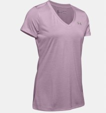Under Armour Tech Twist V-Neck Tee (Pink) Small
