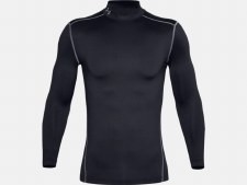 Under Armour ColdGear® Compression Mock Baselayer (Black White) Small