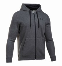Under Armour Rival Fitted Full Zip Hoody (Dark Grey) Small