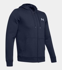 Under Armour Rival Fitted Full Zip Hoody (Navy) Small