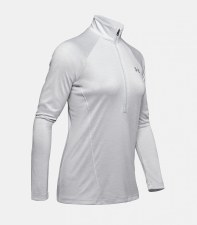 Under Armour Womens Tech 1/2 Zip Top (Grey) Small