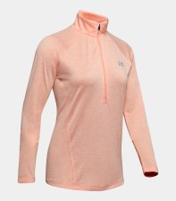 Under Armour Women's UA Tech™ Twist ½ Zip (Peach) XS