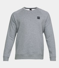 Under Armour Mens Rival Fleece Crew (Grey) Small