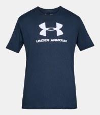 Under Armour Sportstyle Logo Short Sleeve Tee (Navy White) Medium