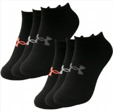 Under Armour Womens Essential No Show 6 pack (Black Mixed) Uk3 to 7.5