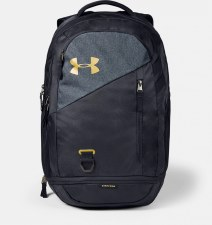 Under Armour Hustle 4.0 Backpack (Black Grey Gold)