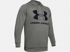 Under Armour Rival Fleece Sports Style Hoody (Grey) Large