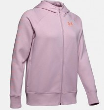 Under Armour Rival Fleece Full Zip Hoody (Pink) Small