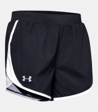 Under Armour Womens Fly By 2.0 Shorts (Black White) Small