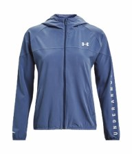 Under Armour Woven Branded Full Zip Hoodie (Blue) Small
