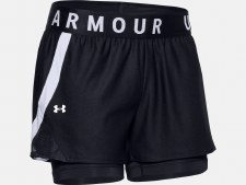 Under Armour Play Up 2 in 1 Short (Black White) XS