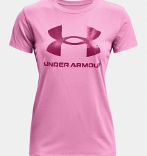 Under Armour Sportstyle Graphic Tee (Pink) XS