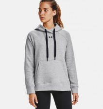 Under Armour Womens Rival Fleece HB Hoodie (Grey) XS
