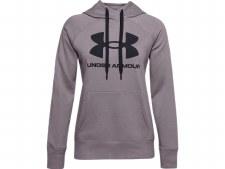 Under Armour Womens  Rival Fleece Logo Hoodie (Purple Slate) XS