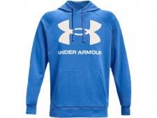 Under Armour Mens Rival Fleece Big Logo Hoody (Blue White) Small