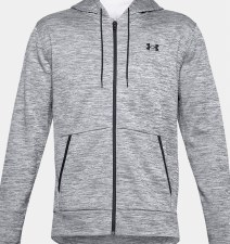 Under Armour Mens Armour Fleece Full Zip Hoodie (Melange Grey Black) XS