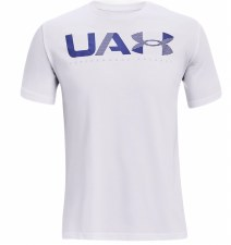 Under Armour Performance Short Sleeve Tee (White Blue) Small