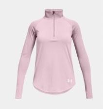 Under Armour Tech Graphic Half Zip (Pink) XS Girls