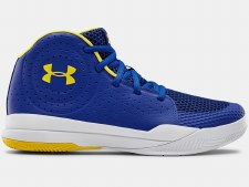 Under Armour Jet Junior Basketball Shoes (Royal Yellow White) 3