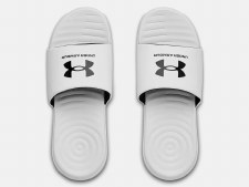 Under Armour Ansa Mens Fixed Slides (White Black) 6