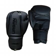 Urban Fight Training Boxing Gloves (Black) 8oz