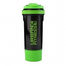 Urban Fitness 2 in 1 Protein Shaker (Black Green)